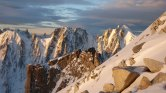 Looking West from the Aiguille d'Argentiere at sunrise